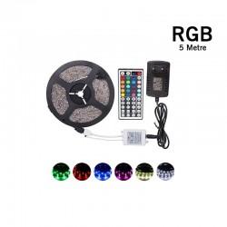 Cata RGB Serit Led Seti 5m 15 Renk + Trafo + Kumanda - CT-4558