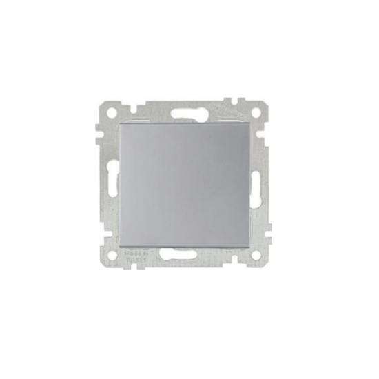 Mutlusan Anahtar Rita Metalik Inox - 2200 401 0282 (Çerçeve Hariç)