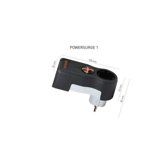 Tunçmatik PowerSurge 1'li Siyah 525J. Akim Korumali Priz TSK5079